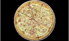 Пицца с беконом и ветчиной