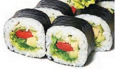 Ролл с овощами